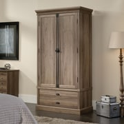 Sauder Barrister Lane Bedroom Armoire, Salt Oak  2 Ctns