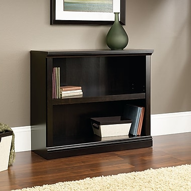 Sauder 2 Shelf Bookcase, Estate Black