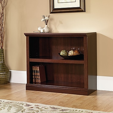Sauder 2-Shelf Bookcase, Select Cherry