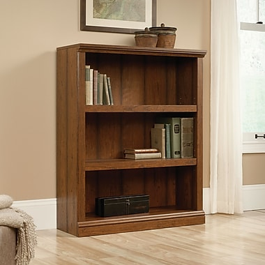 Sauder 3-Shelf Bookcase, Washington Cherry