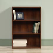 Sauder Beginnings 3-Shelf Bookcase, Brook Cherry