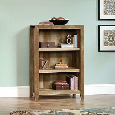 Sauder Dakota Pass 3-Shelf Bookcase, Craftsman Oak
