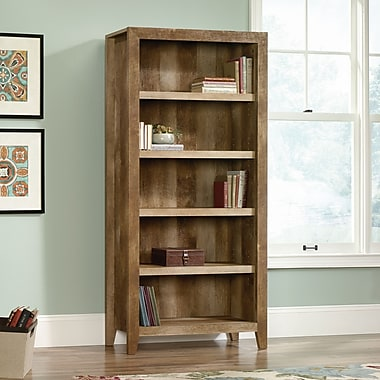 Sauder Dakota Pass 5-Shelf Bookcase, Craftsman Oak