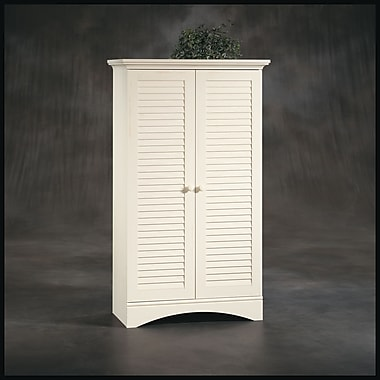 SauderMD – Armoire de rangement de la collection Harbor View, fini blanc ancien