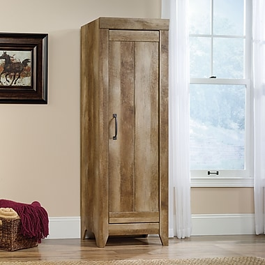 Sauder Adept Storage Narrow Storage Cabinet, Craftsman Oak