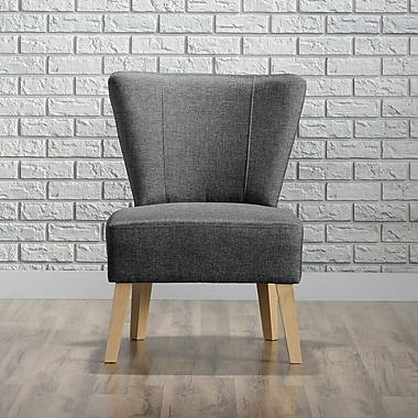 Sauder Square1 Collection Accent Chair, Cinder Grey