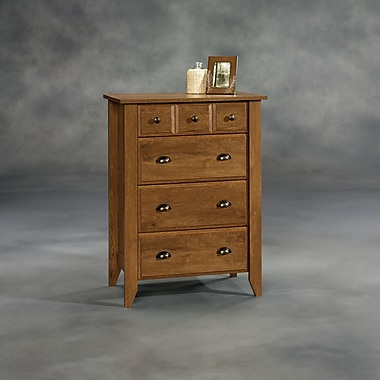 Sauder Shoal Creek 4-Drawer Chest, Oiled Oak