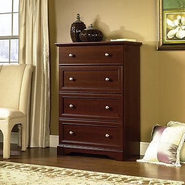 Sauder Palladia 4 Drawer Chest, Select Cherry
