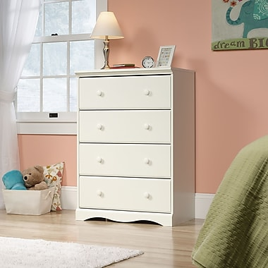 Sauder Pogo 4 Drawer Chest, Soft White