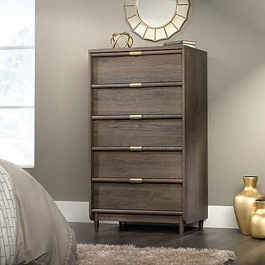 Sauder International Lux Chest Of Drawers, Fossil Oak 2 Ctns