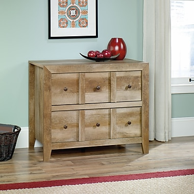 Sauder Dakota Pass Anywhere Console with Drawer, Craftsman Oak