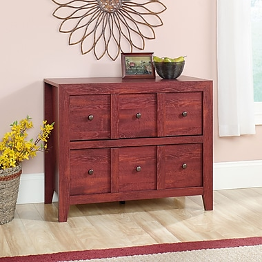 Sauder Dakota Pass Anywhere Console, Fiery Pine