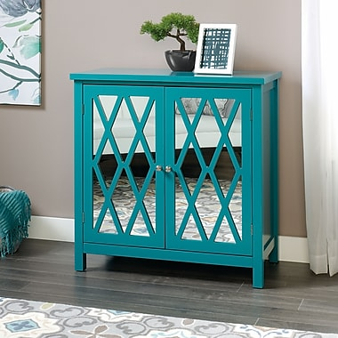 Sauder Inspired Accents Anywhere Console, Teal