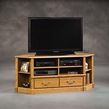Sauder Orchard Hills Corner Entertain Credenza, Carolina Oak
