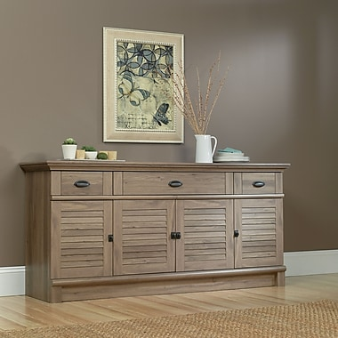 Sauder Harbor View Credenza, Salt Oak 2 Ctns