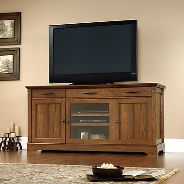 Sauder Carson Forge Credenza, Washington Cherry 2 Ctns