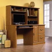 Sauder Orchard Hills Comp Desk with Hutch, Carolina Oak  2 Ctns