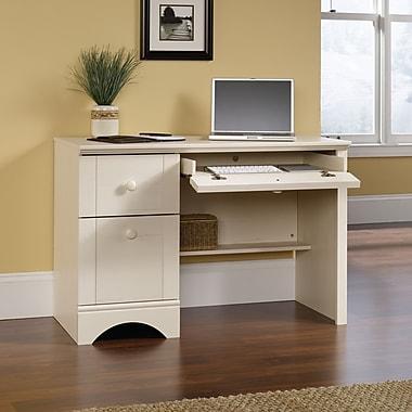 Sauder Harbor View Computer Desk, Antiqued White