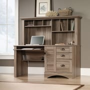 Sauder Harbor View Computer Desk with Hutch, Salt Oak 2 Ctns