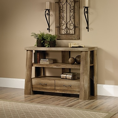 Sauder Boone Mountain Anywhere Console, Craftsman Oak