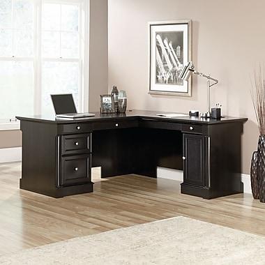 Sauder Palladia L-Shaped Desk, Wind Oak, 2 Cartons (417714)
