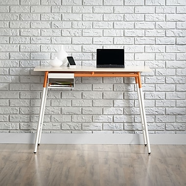 Sauder – Bureau de la collection Square1, érable/blanc/orange