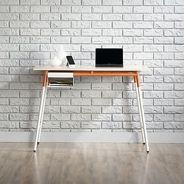 Sauder – Bureau de la collection Square1, érable/blanc/orange
