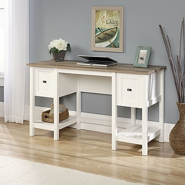 Sauder – Bureau de la collection Road Cottage, blanc doux