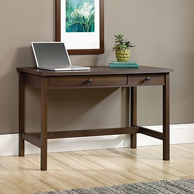 Sauder County Line Writing Desk, Rum Walnut