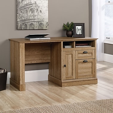 Sauder Barrister Lane Computer Desk, Scribed Oak