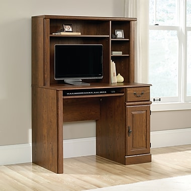 Sauder Orchard Hills Computer Desk with Hutch, Milled Cherry (418649)