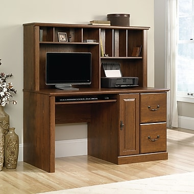 Sauder Orchard Hills Comp Desk with Hutch, Milled Cherry 2 Ctns