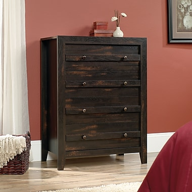 Sauder Dakota Pass 4-Drawer Chest, Char Pine