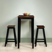 Ensemble 3 pièces hauteur bar pour salle à manger de la collection Beginnings, noir/cerisier