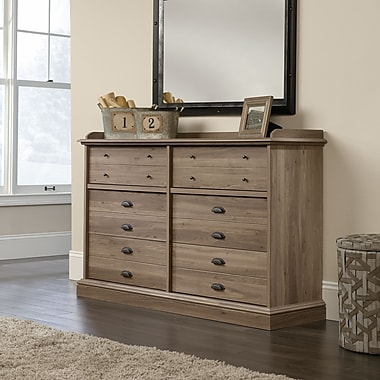Sauder Barrister Lane Dresser, Salt Oak 2 Ctns
