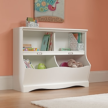 Sauder Pogo Bookcase/Footboard, Soft White