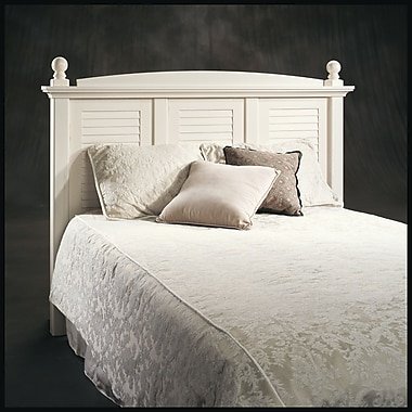 Sauder Harbor View Full/Queen Headboard, Antiqued White