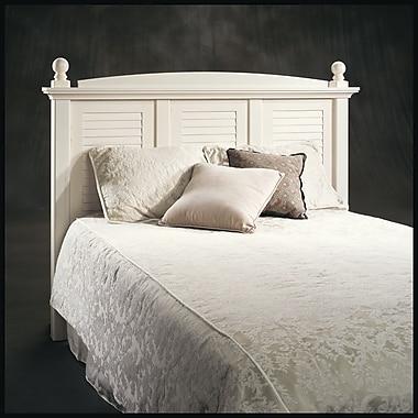 Tête de lit Harbor View pour lit double ou grand lit, blanc ancien