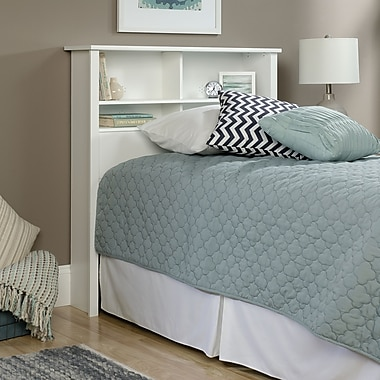 Sauder County Line Twin Bookcase Headboard, Soft White