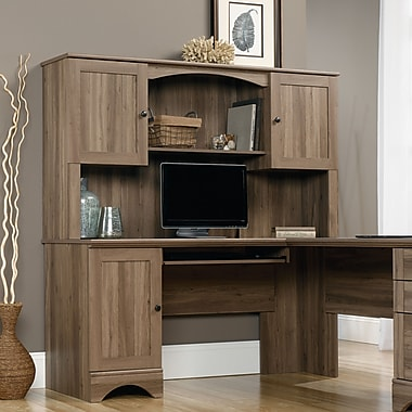 computer hutch wind sauder alt avenue harbor executive transitional oak shaped eight l instructions vintage desk famous with in quintessence view