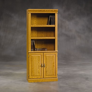 Sauder Orchard Hills Library With Doors, Carolina Oak