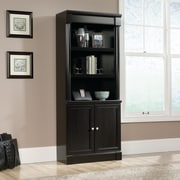 Sauder Palladia Library With Doors, Wind Oak