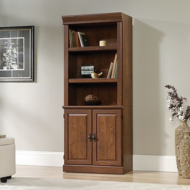Sauder Orchard Hills Library With Doors, Milled Cherry
