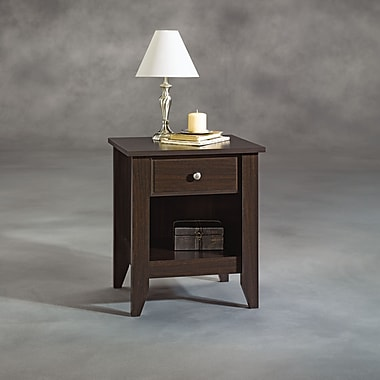 Sauder Shoal Creek Night Stand, Jamocha Wood