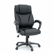 Sauder Executive Chair, Leather Black