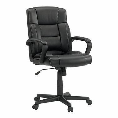Sauder Manager Chair, Leather Black