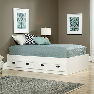 Sauder County Line Twin Platform Bed, Soft White