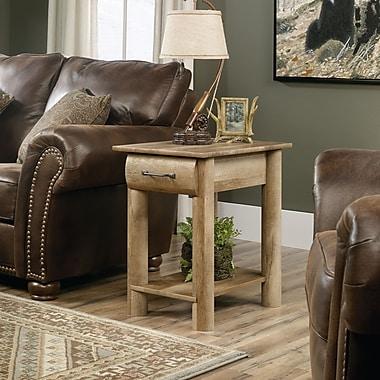 Table d'appoint Boone Mountain avec tiroir et tablette, chêne artisanal