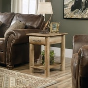 Sauder Boone Mountain Side Table with Drawer & Shelf, Craftsman Oak