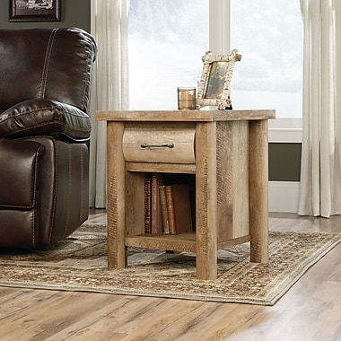Sauder Boone Mountain Side Table, Craftsman Oak